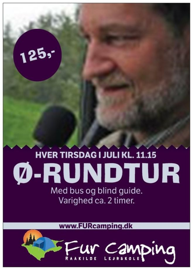 Ø-rundtur på Fur med bus og blind guide...